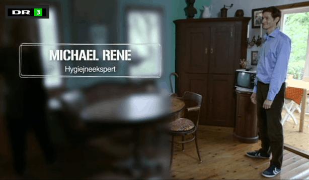 Michael René som hygiejneekspert i Tillykke Du er i live, DR3 okt 2014