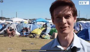 Michael René laver indslag på Roskildefestivalen for BT.dk, jul 2015 (6)