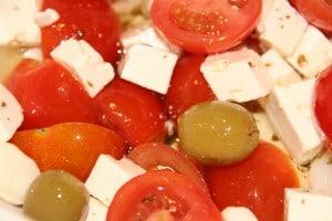 Fetaost i en salat