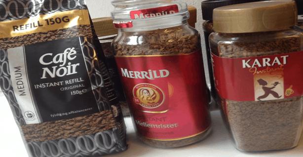 Smagstest af Instant kaffe af fødevareekspert Michael René og Søndagsavisen