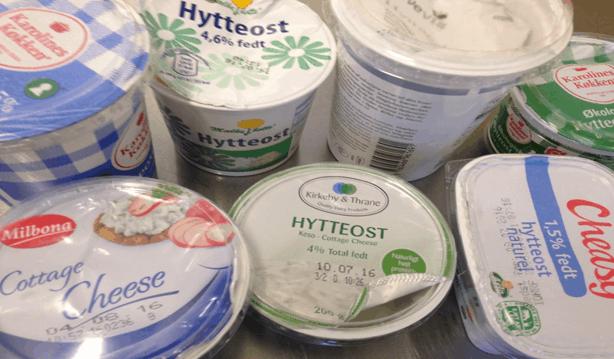 Smagstest af hytteost