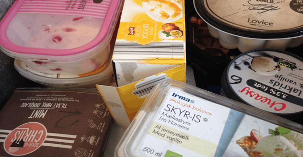 Søndagsavisen: Smagstest af blandede is, herunder alternativer til is