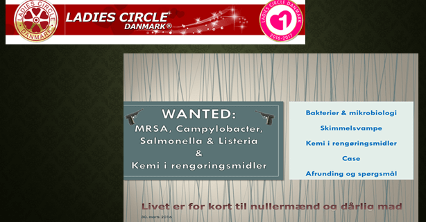 Foredrag for Ladies Circle Danmark – Wanted 3. ed.