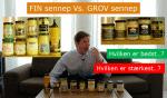 Youtube: Smagstest af sennep af fødevareekspert Michael René – Grov vs. fin sennep?