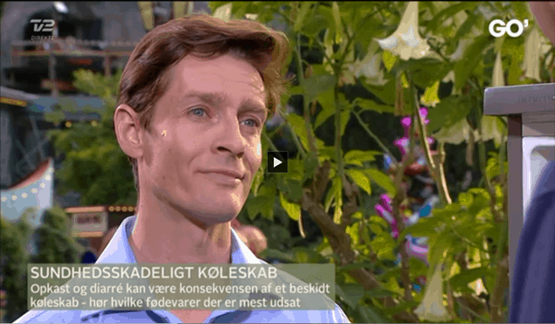 Michael René snakker om køleskabshygiejne og opbevaring af madvarer, Go' aften Danmark, 7 aug 2014