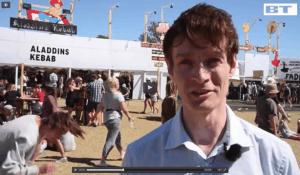 Michael René laver indslag på Roskildefestivalen for BT.dk, jul 2015 (2)