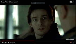 Michael René i reklamefilm for Tempofilm