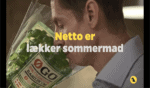 Michael René i reklamefilm for Netto og Netto Øgo